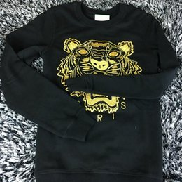 Wholesale Best Brand Sweaters - wholesale the best quality K*Z* Prais brand Embroidered tiger head logo sweater O-Neck pullover Terry sweatershirt jimpers original