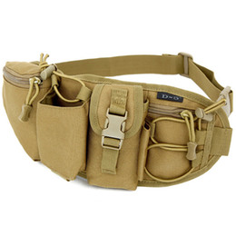 Wholesale Military Outdoor Water Bottle - Utility Camouflage Tactical Molle Military Fanny Packs Bum Bag For Men Multi Pockets With Water Bottle Slot Outdoor Travel Nylon Waist Bags