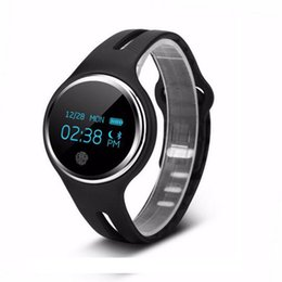 Wholesale Male Heart Necklace - Wholesale- Waterproof IP67 E07 Smart Bracelet System Necklace Band Pedometer Fitness Watch Step Counter Smart Wristband for Swimming Diving