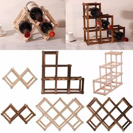 Wholesale Wine Rack Wood - Wooden Red Wine Rack 3 6 10 Bottle Mount Kitchen Holder Exhibition Organizer
