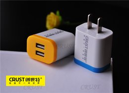 Wholesale Double Docking - High quality 2.4 A Double u Adaptive Fast Charging Travel Wall Charger usb cable For Samsung Galaxy S6 Edge
