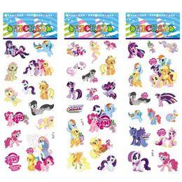 Wholesale Wholesale Sticker Sheet For Kids - 6 sheets set My Pony stickers for kids Home wall decor on laptop cartoon Pony mini 3D sticker decal fridge skateboard doodle