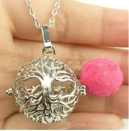 Wholesale Scent Oil Diffuser - Wholesale Heart Flower Metal Volcanic Stone Essential Oil Necklace Diffuser Lockets Diffuser Jewelry Scent Locket Openwork Aromatherapy