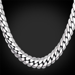 Wholesale Indian Birthday Gifts - Platinum Plated Necklace For Men 18in-32in 9mm Platinum Plated Snake Chains Men's Fashion Jewelry Birthday Gift