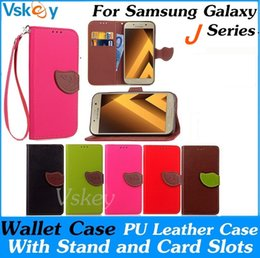 Wholesale Galaxy Pocket Strap - Wallet Case For Samsung Galaxy J1 MINI J3 J5 J7 2016 2017 Prime Flip PU Leather Case Cover With Stand & Card Slots & Strap