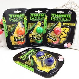 Wholesale Grow Toys Wholesale - YOYO Fidget Ball Toy Thumb Chucks Grow In Dark Finger Extreme Movement Spinner Fluorescence Stress Release Toys Spinner Free DHL BEY064
