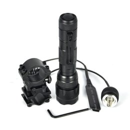 Wholesale Blue Led Driving Lights - 18650 UltraFire WF-502B Hunting CREE Led Tactical Flashlight Torch Flash Light White Light Camping Hunting Fishing