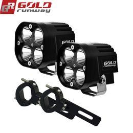 Wholesale Head Light Yamaha - 40W Motorcycle Headlight 4200LM Motorbike new REALLYC REE U3 LED Moto Driving Fog Spot Head Light with Mounting clamps
