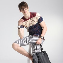 Wholesale Korean Summer - Wholesale-Unisex Short Sleeve Korean Silk Casual Wear Summer 3D Printing Women Men T Shirt Luxury Brand Plus Size 5XL Oversized T Shirt