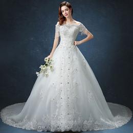 Wholesale Tail Floor - 2017 new Royal Princess long tail luxury embroidered Diamonds wedding dress