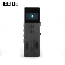 Wholesale portable screen recorder - Wholesale- BENJIE C6 HD Digital Voice Recorder Buiit-Speaker OLED Screen Portable Audio Metal MP3 Player FM RadioVoice Tracker