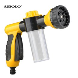 Wholesale portable water sprayer - Wholesale- Portable High Sprayer Gun Wash Car Cleaning Pistola Lavador De Carro Cone Hand Mist Sprinkler Head With Bottle Gardening Water