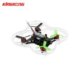 Wholesale Micro Rotor - ARF Kingkong 90GT 90 Brushless Micro FPV Racing Quadcopter Drone F3 Flight Controll 800TVL Blade Inductrix Eachine Aurora Camera Drones +B