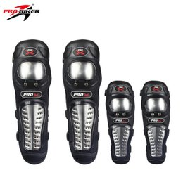 Wholesale Elbow Armor - PRO-BIKER KneePads Elbow Guard Stainless Steel Protective Gear Protector Protection Armor For MTB ATV Motorcycle Motocross HX-P15