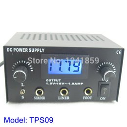 Wholesale Dual Casting - Wholesale-Digital Dual Cast Iron Tattoo Power Supply For Tattoo Machine Gun Power Kit Set Supply Free Shipping TPS09#