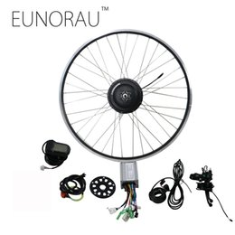 Wholesale electric bicycle ebike - EUNORAU 48V500W electric bicycle rear cassette hub motor 20'' 26'' 28'' rim wheel Ebike motor Conversion Kit