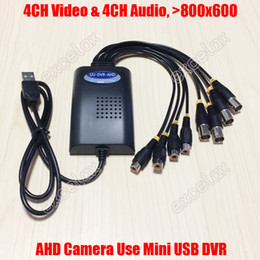 Wholesale Mini Hd Dvr Channel - Wholesale-4CH AHD Video 4CH Audio Input Mini USB AHD DVR 800x600 Mobile Video Capture Card 4 Channel HD Analog Camera UU DVR for 960P 720P