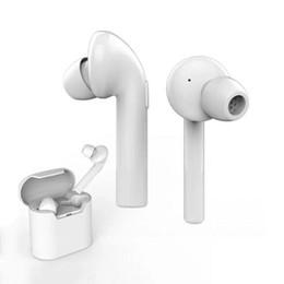 Orejas de la caja del teléfono online-Air7E TWS Auricular Bluetooth Mini auricular inalámbrico doble en la oreja V4.2 con micrófono y estuche de carga para teléfonos inteligentes Android de Samsung 10pcs