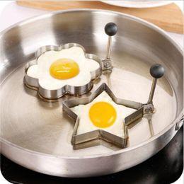 Wholesale Heart Shaped Omelette - Stainless Steel Omelette Mould Device Love Surprise Eggs Ring Model Set Heart Shape Egg Mold Styling Tools Ferramentas 4 Designs RY003