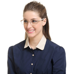 Wholesale Optical Lens - Fashion brands Gold Tone Metal Frame Presbyopic Glasses in high-grade optical glass For Women Ladies B05056