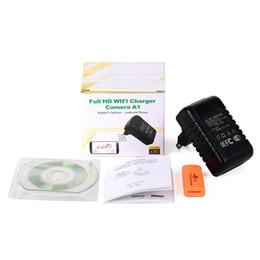Wholesale Mini Pinhole Full Hd Camera - AC Adaptor spy camera P2P WIFI EU US Plug IP camera Full HD 1080P charger Hidden pinhole camera Covert mini DV home security