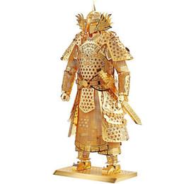 Wholesale armor models - Piececool Kids Adult Toys 3D Construction Figures Model Puzzle General Samurai Warriors Armor for Children Tangram DIY Jointing
