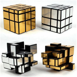 Wholesale Kids Brain Games Toy - 3x3x3 Mirror Magic Cube Fidget Toy Professional Speed Cubo Magico Children Learning Educational Puzzle Brain Teaser Game