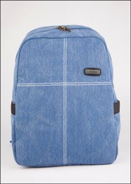 Wholesale Colour Backpack - school bags New Cross Style Canvas Bag Classical 12 inch School Bag College Backpack Boy and Girl Single Colour school bags