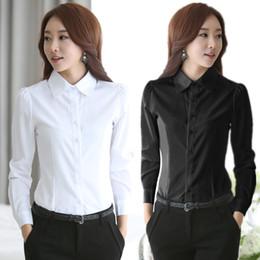 Wholesale Women S Office Wear Wholesale - New Fashion Blouses Shirts Women White Shirt Office Lady OL work wear Long Sleeve Tops Slim Women's Blouses Shirts S-4XL casual blusas