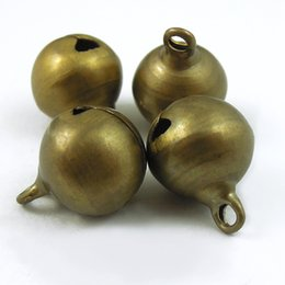 Wholesale Bronze Jingle Bells - Wholesale- 70PCS Vintage Bronze Brass Metal Jingle Bell Christmas Decoration 12 mm 35770