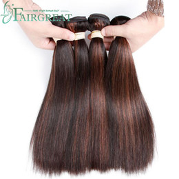 Wholesale Ombre Straight Hair - P1B 30 Color 2 Tone Human Hair Bundles Malaysian Indian Peruvian Brazilian Straight Human Hair Extensions 100% Ombre Hair Bundles Non Remy