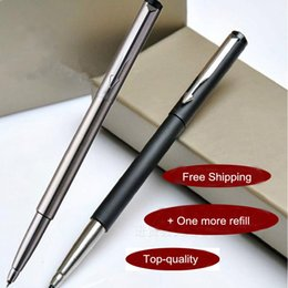 Wholesale Office Vector - Free Shipping Parker Vector Serious Roller Ball Pen School Office Suppliers Signature Ballpoint Pen Excutive Fast Writing Pens Stationery