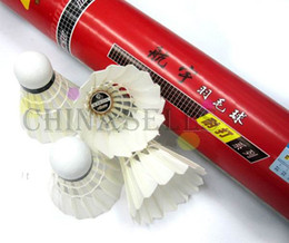 Wholesale Duck Feather Badminton Shuttlecocks - Genuine hangyu badminton shuttlecocks durable NO.5 duck feather shuttlecock badminton ball 12balls flight A