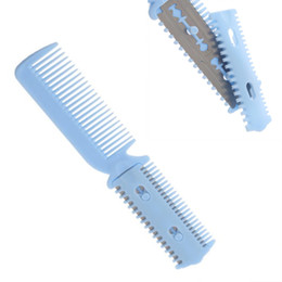 Wholesale Durable Combs - Hot New Durable Small Pet Dog Puppy Cat Hair Trimmer Cleaning 2 Razors Grooming Comb Cutting Tool Randomly