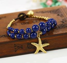 Wholesale Draw Bar - 2017 fashion women bracelets Draw string turquoise bracelet, owl starfish elephant jewelry Bracelet best gfit # 10
