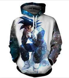 Wholesale Cool Hoodies Women - New fashion Cool sweatshirt Hoodies Men women 3D print Dragon Ball Z Goku fashion hot Style Streetwear Long sleeve clothes XKLMS07
