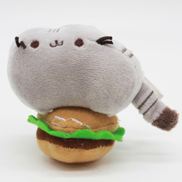 Wholesale Fat Dogs - 2017 New Cute fat cat, donuts, plush dolls, pusheen biscuits, cups, pizza, hamburgers, ice cream, cat dolls