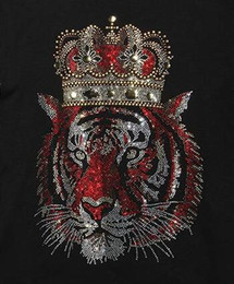 Wholesale Wholesale Fashion Garments - 2017 new tiger hot fashion clothing,Garment,Shoes Cute hotfix rhinestones heat transfer design iron on motifs patches,rhinestone applique.