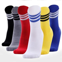 Discount stripe football socks - New Adult Soccer Socks Top Quality breathable stripe short Socks basketball Running Cycling Football game Table Tennis Sportwear training