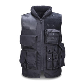 Wholesale Airsoft Molle - Men's Tactical Vest Army Hunting Molle Airsoft Vest Outdoor Body Armor Swat Combat Painball Black Vest For Men