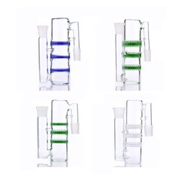 Wholesale New Style For Sale - New Style Ash Catcher for Glass Bongs 14.5 18.8mm triple HC three honeycombs glass ashcatcher bubbler different color factory direct sale