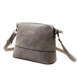 Wholesale Womens Scrubs - Wholesale-New fashion women's messenger bag Nubuck Leather small bags scrub shell bag over the shoulder womens purses handbags