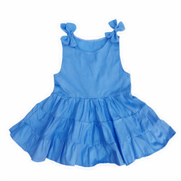 Wholesale Dres For Kids - Kseniya Kids 2017 Summer Flower Girls Cotton Dress Baby Girls Cute Cake Dresses For Party Occasion Kids Baby Girl Birthday Dress Girl's Dres