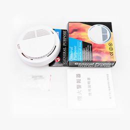 магнитный контакт двери аварийной двери Скидка Детектор дыма сигнализация системы датчик пожарной сигнализации отдельно стоящие беспроводные детекторы домашней безопасности высокая чувствительность стабильной LED 85DB 9V батареи