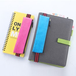 Wholesale Notebook Year - Wholesale- Original creative student leather pencil bags stationery,office school cute pencil case supplies,can be tied to notebook