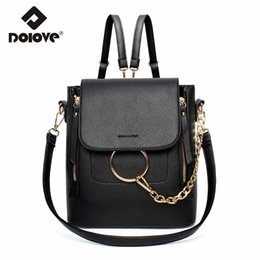 Wholesale Wholesale Plain Notebook - Wholesale- DOLOVE 2017 New Sweet lady backpack College of the wind school bag notebook travel bag