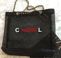 Wholesale Mesh Transparent - 2017 hot Fashion women Transparent Mesh Chain Shoulder Bags casual tote Designer Brand Luxury Shopping Handbags