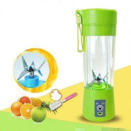Wholesale Rechargeable Blender - 400ML Portable USB Electric Juicer Cup Bottle Rechargeable Juice Blender Mixer Fruit Mixing Machine Kitchen Accessories