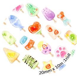 Wholesale Ice Cream Stickers - Wholesale- 2016 Ice Lolly Japanese Washi Tape 2cm*10m Masking Tapes Ice Cream Decoration Adhesive Tapes Stickers Stationery Photo Album