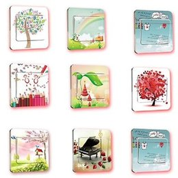Wholesale Wholesale Wall Switch Cover - 2016 Hot New Wall Stickers Switch Cover Light Switch Decor Art Mural Nursery Room Home Decal